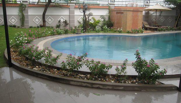 Hồ bơi thực tế biệt thự Thảo Điền khu Kim Sơn