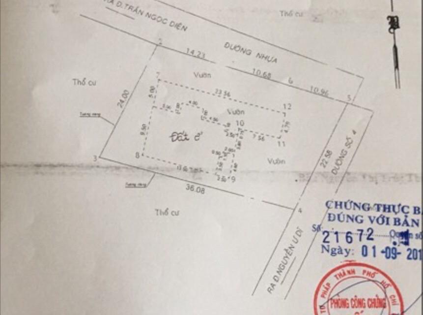 Bán biệt thự Nguyễn Ư Dĩ Thảo Điền Quận 2