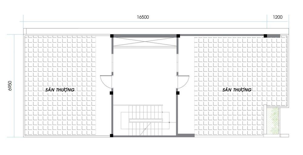 Thiết kế chi tiết An Phú News City Quận 2 tầng thượng